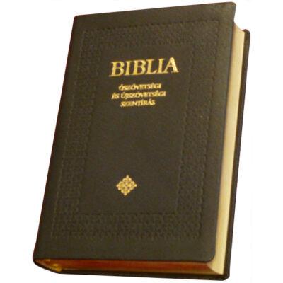 Biblia – régi Károli, standard, bőrkötés, aranymetszés