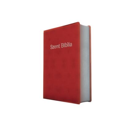 Szent Biblia – Patmos, Károli, mahagóni, ezüst (prémium, nagy)