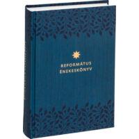 Református énekeskönyv (sötétkék, mintás)
