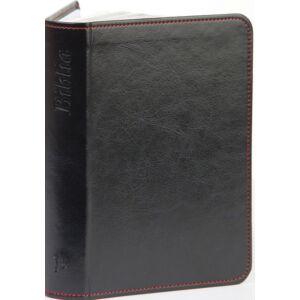 Biblia – új Károli, sötétkék, varrott, ezüst, kicsi