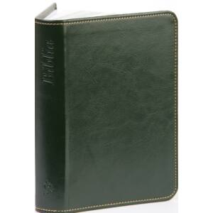 Biblia – új Károli, sötétzöld, varrott, arany, kicsi