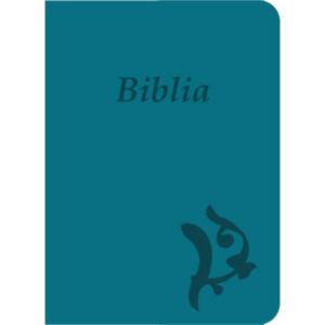 Biblia – új Károli, türkiz, varrott, nagy