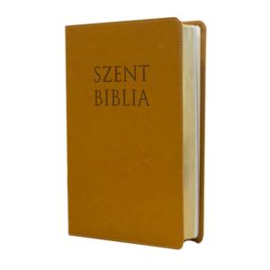 Szent Biblia – Patmos, Károli (nagy) őzbarna, regiszteres