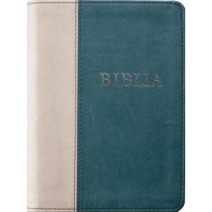 Biblia – revideált új fordítás, sötétzöld-szürke, puhatáblás, közepes