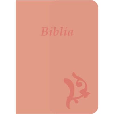 Biblia – új Károli, rózsaszín, varrott, nagy