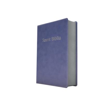 Szent Biblia – Patmos, Károli, kék, ezüst (prémium, kicsi)