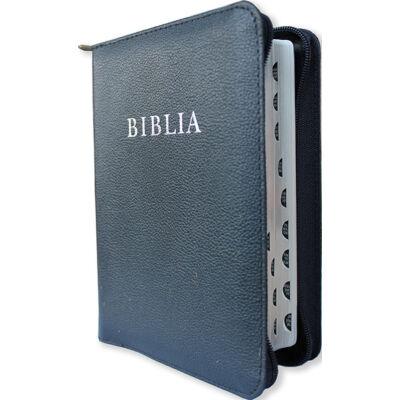 Biblia – revideált új fordítás, bőrkötés, cipzár, közepes