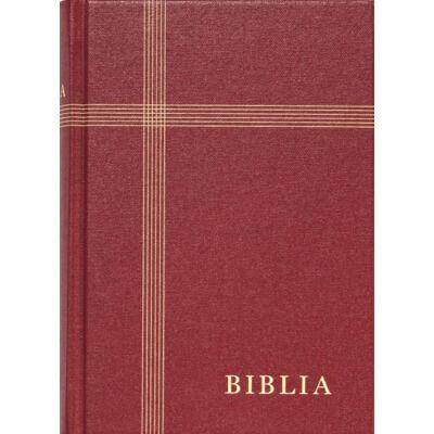 Biblia – revideált új fordítás, bordó, vászonkötés, közepes