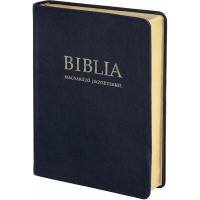 Biblia – revideált új fordítás, magyarázó jegyzetekkel, bőrkötés, aranymetszés