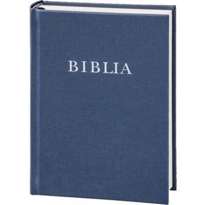 Biblia – revideált új fordítás, sötétkék, vászonkötés, közepes