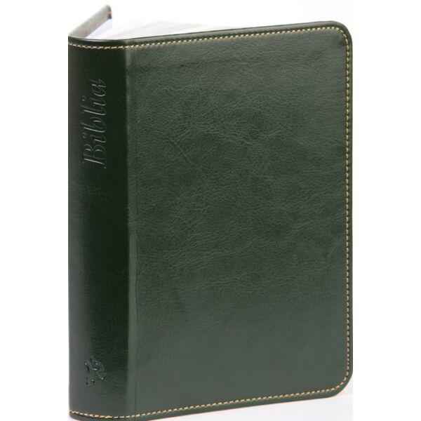 Biblia – új Károli, sötétzöld, varrott, nagy