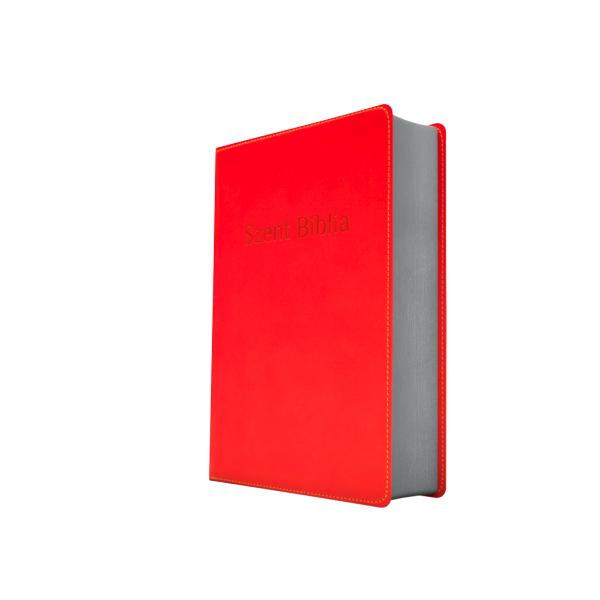 Szent Biblia – Patmos, Károli, élénk piros, ezüst (prémium, kicsi)