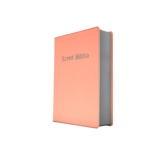 Szent Biblia – Patmos, Károli, rózsaszín, ezüst (prémium, nagy)