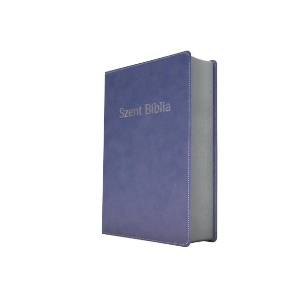 Szent Biblia – Patmos, Károli, kék, ezüst (prémium, nagy)